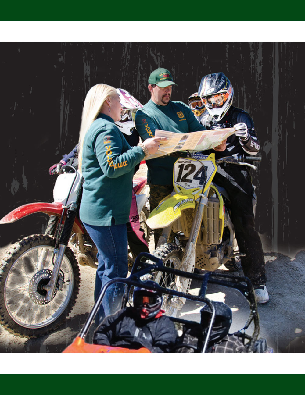 Education riders about save off highway riding